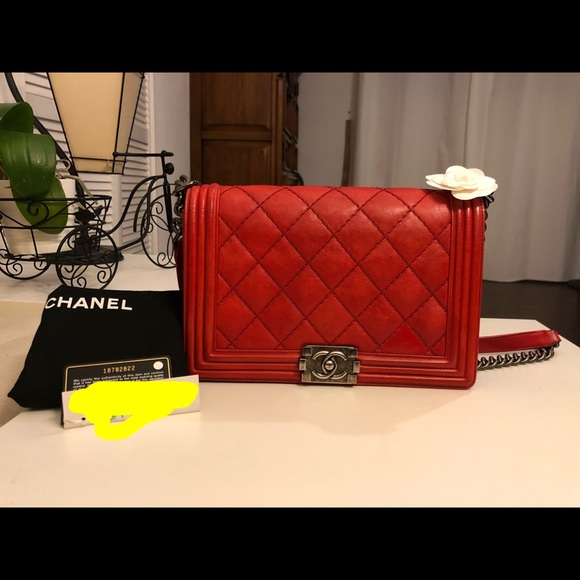 da7df6c4b9c0 CHANEL Bags | 100 Authentic Boy New Medium Calfskin Rhw | Poshmark